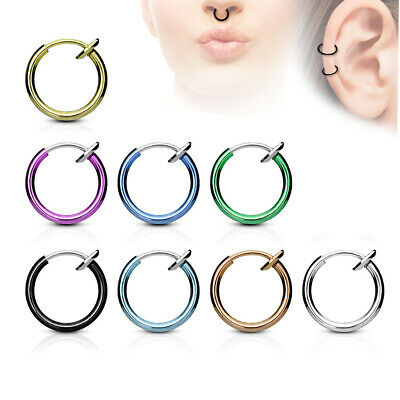 Nasenpiercing Piercing Clicker Ohr Helix Septum Nase Ring Lippe Fake Set