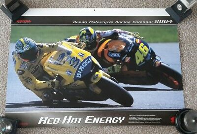 Honda motorcycle racing calendar 2004