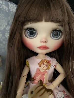 Ooak Custom Blythe Doll Hand Carved And Painted