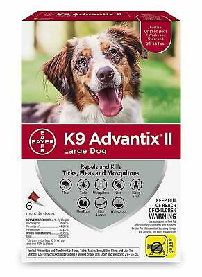 K9 Advantix II for Large Dogs 21-55 lbs, 6 Doses