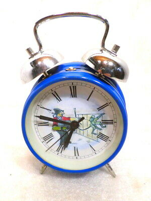 Animated Organ Grinder Animated Alarm Style Clock--Mechanical