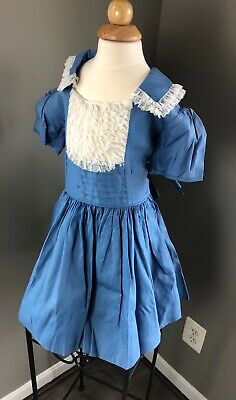 Vtg 50's MARY LOUISE Original 6X LACE Trim FULL Circle RUFFLE Pageant Dress 🍼
