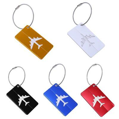Aluminum Alloy Luggage Tag Checked Boarding Card Airplane Pattern WT7n