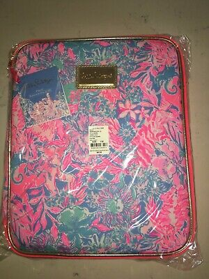 NWT LILLY PULITZER Zip Agenda/Tablet Folio NEW Portfolio PlannerBlue Peri