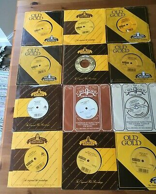"Vinyl 7"" singles - Job Lot of 12 Old Gold records - Kinks - Moody Blues"