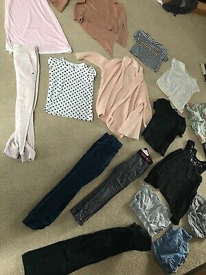 Bundle Girls Clothes 7-8 Years Shorts Cardigan Jumper Jeans Tops Pj's Next Nike