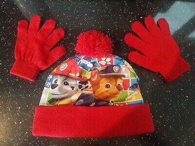 Paw Patrol Kids Bobble Hat And Gloves Set One Size