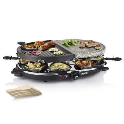 Raclette Princess 162710 Raclette 8 Oval Stone & Grill Party