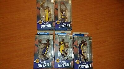 Kobe Bryant McFarlane NBA Collectible Championship Series Set of 5 Figures MINT