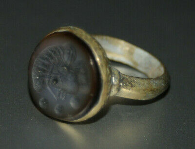 ONE OF A KIND Rare Ancient medieval Roman Military Bronze Ring Museum Quality#4