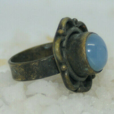 UNIQUE Highly Detailed Scarce Ancient viking Solid wearable Ring Circa 100-300Ad
