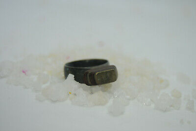 Ancient Viking WARRIOR Bronze Ring With Ornament 9th-11th century AD
