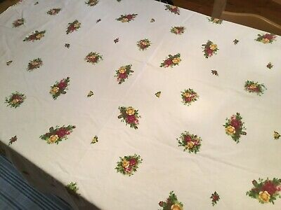 Royal Albert Old Country Roses Cotton Tablecloth.