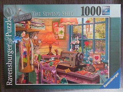 Ravensburger Puzzle  - The Sewing Shed - No. 4 My Haven - 1000 Teile