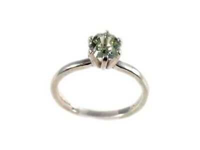 Green Amethyst Ring ¾ Antique 19thC Poland Gem of Ancient Celtic Roman Warriors