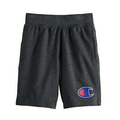 NWT Boys Youth Champion French Terry Dark Gray Shorts Large L NEW!