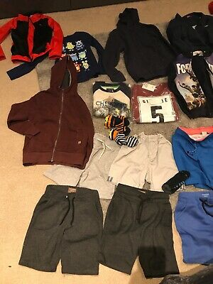 Bundle Boys Clothes 7-8 Years Shorts Hoodies Tops Jumpers Pj's Next H&m Tu Socks