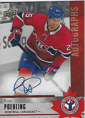 2020 Ud National Hockey Card Day Autographs Ryan Poehling