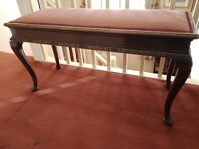 Victorian mahogany duet piano stool. Upholstered top. Great condition