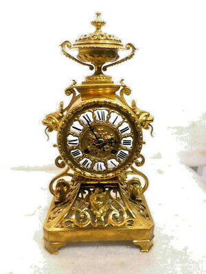 Stunning French 1885 Bronze 8 Day Strike Table Regulator- Porcelain Cartouche #s