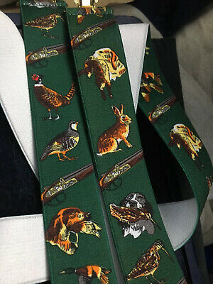 LUXURY Country BRACES Pheasants Guns Hunting Dogs