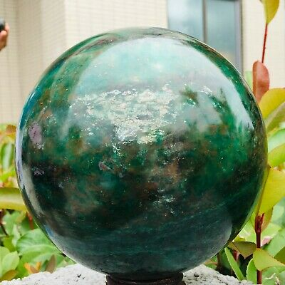 12LB Natural red and green gem crystal Magic ball quartz point healing MZQ90