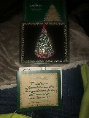 2008 The White House Historical Association Christmas Ornament Benjamin Harrison