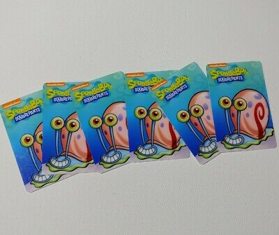 🐌🍍 Dave & Buster's Spongebob Arcade Coin Pusher Game Lot of 6 Gary Cards 🎫🕹