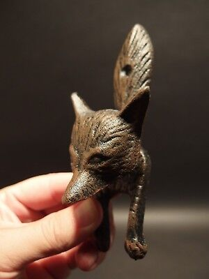 Antique Vintage Style Cast Iron FOX Head DOOR KNOCKER Hardware