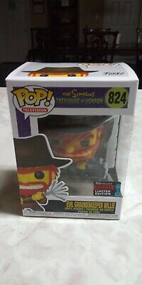 Funko Pop! TV #824 Evil Groundskeeper Willie The Simpsons NYCC / Hot Topic 2019