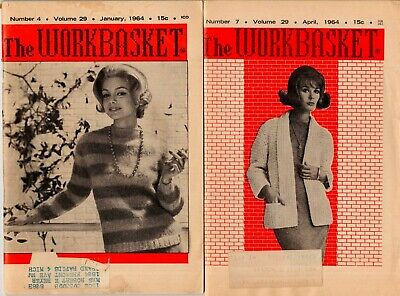 The Workbasket, Home & Needlecraft For Pleasure & Profit - January & April 1964