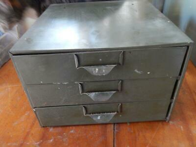 Lyon Metal Storage Cabinet, 3 Drawer, Green, Machinists, Parts Cabinet! GD