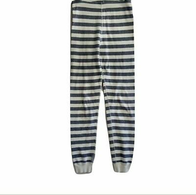 Hanna Andersson Girls Leggings 140 US Size 10 100% Organic Cotton Gray Striped
