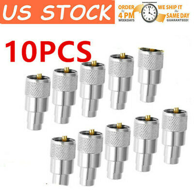 Lot 20pcs UHF PL-259 male solder on RF connector plugs for RG8X coax cable PTEE