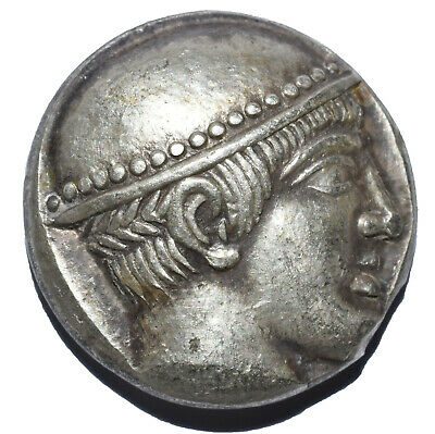 Ar Tetradrachm Very Rare Thrace Ainos Ancient Greek Silver Coin 17Gr 460-455 Bc