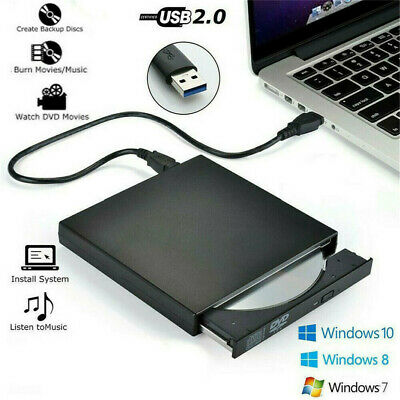 External USB 2.0/ 3.0 DVD RW CD Writer Drive Burner Reader Player Portable F PC