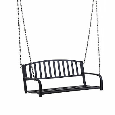 Outsunny Patio Porch Hanging Swing Chair Garden Deck Bench Outdoor Furniture