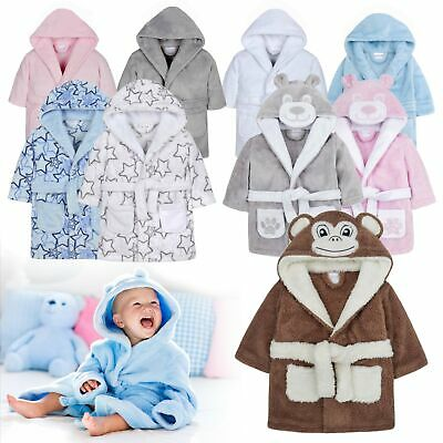 Baby Boys Dressing Gown | Baby Girls Bath Robes | Hooded Soft Fleece Robe | Gift