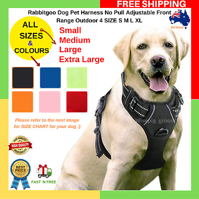 Rabbitgoo Dog Harness No Pull Adjustable Front Range Outdoor 4 SIZE S M L XL NEW