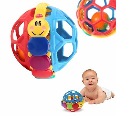 Hot Infant Baby Gift Handbells Multicolor Rattle Ball Teether Toy