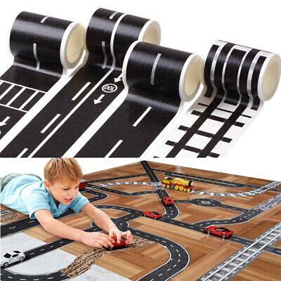 Kids Toy Car Road Tape Roll Removable Room Playing DIY Road Track Floor Tape