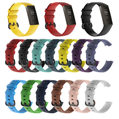 Silicone Bracelet for Fitbit Charge 3/4-All Colours Replacement Band Watch Strap