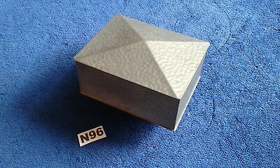 """Art Deco C 30'S Pewter Box By Armada Approx  4 1/2"""" × 3 3/4"""" × 2"""""""