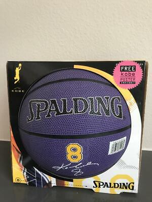Kobe Autograph Series Bryant Number 8 Lakers Basketball Poster Vintage Spalding