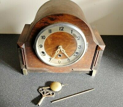 Vintage wooden cased Westminster Chimes mantel clock - for restoration