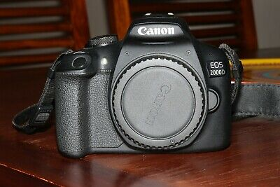 Canon EOS 2000D, no lens, but with battery and charger. I also include the strap