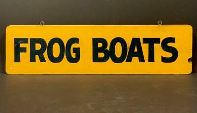 Early 20th c FROG BOATS sign