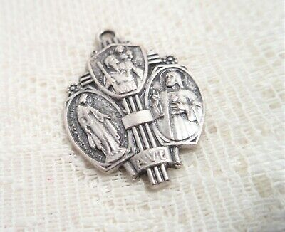 Vintage Religious Medal Ave & St. Christopher Protect Us.