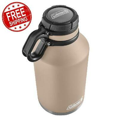 64 oz Coleman Vacuum Stainless Steel Growler Hot Cold Beverages Insulated