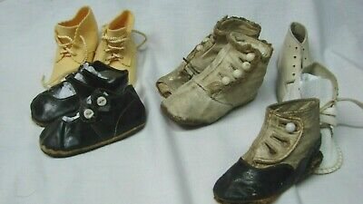 All For One $ ~ Large Lot Antique & Vintage Button-Up Baby Shoes